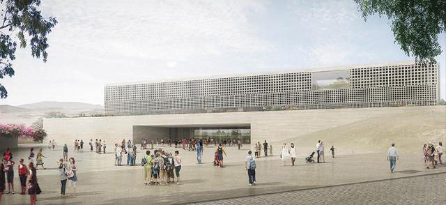 Perú: Anuncian ganadores del concurso de diseño del futuro Museo Nacional en Pachacámac, Propuesta ganadora del equipo liderado por Alexia León. Image © Difusión