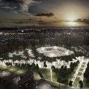 Night View. Image © stadiumconcept with IAA architecten