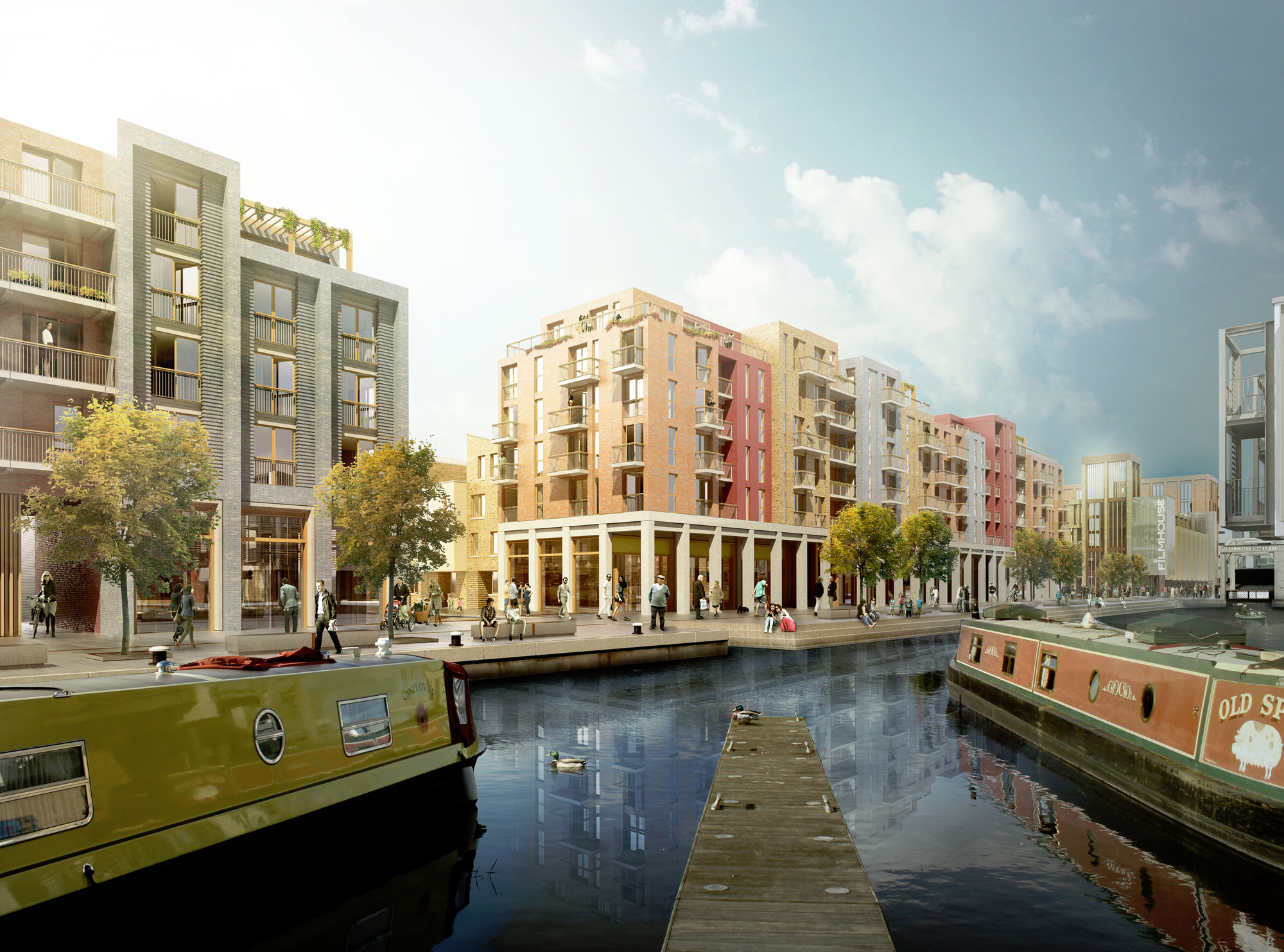 7N Architects Unveils Masterplan for Edinburgh's Fountainbridge Site, Courtesy of 7N Architects