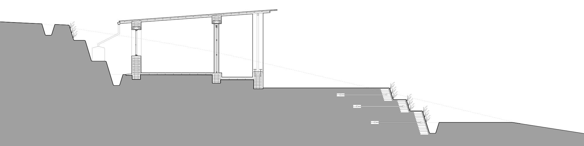 Corte Transversal / Habitaciones