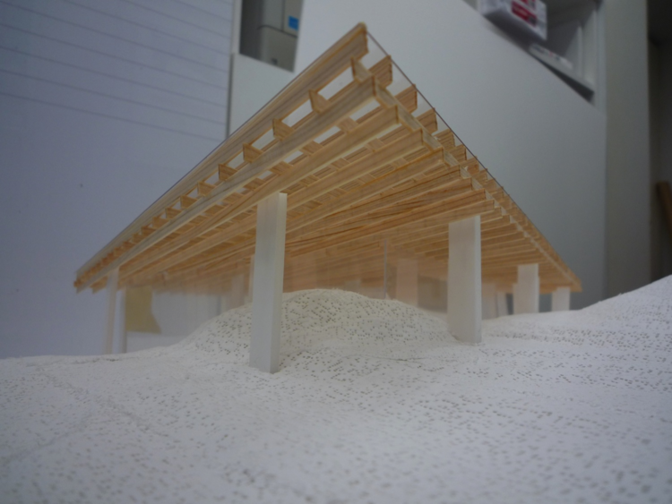 Kengo Kuma's proposal. Image Courtesy of Ochoalcubo