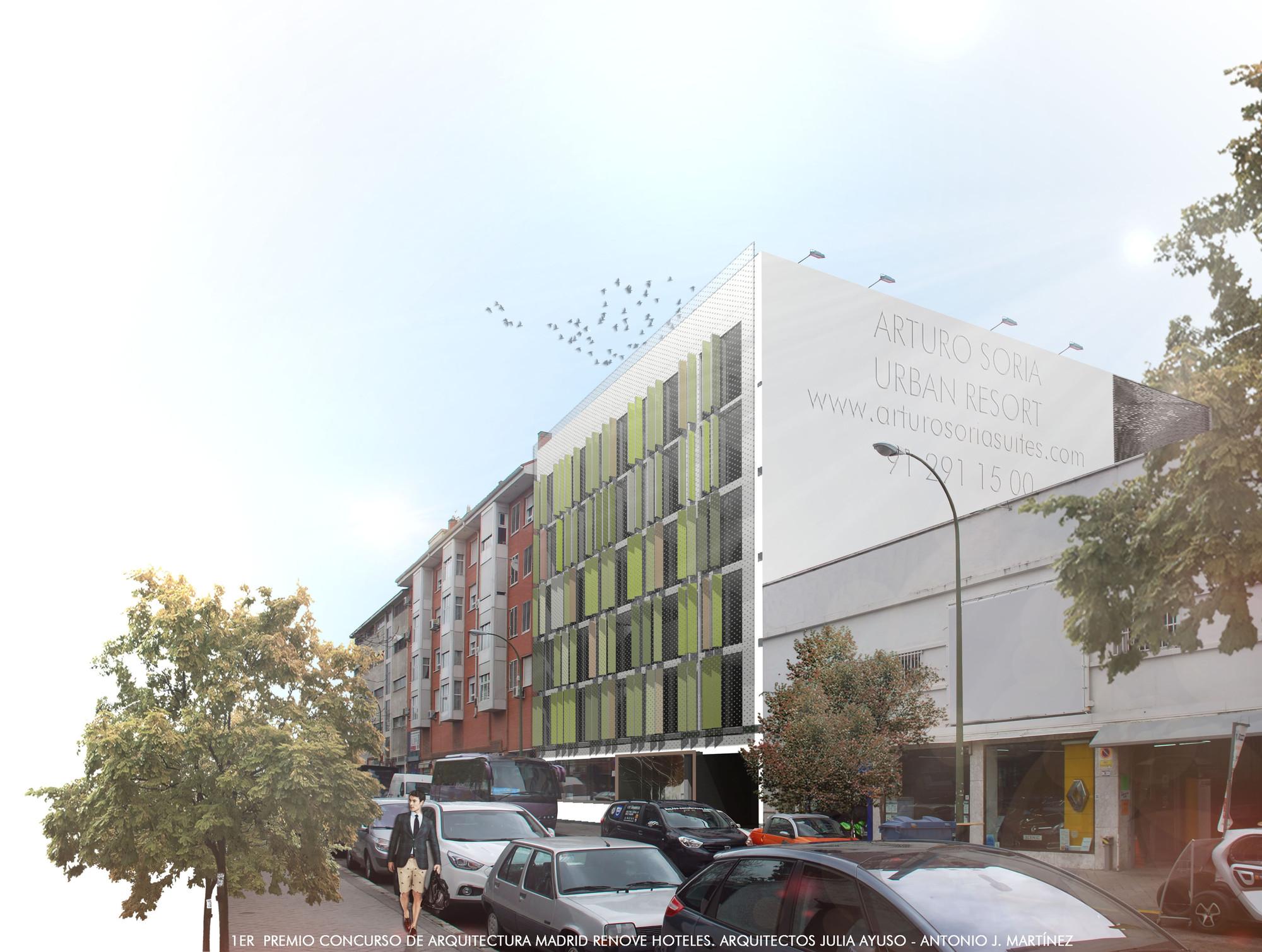 Primer Lugar en concurso Madrid Renove Hoteles / Madrid, España, Courtesy of Julia Ayuso Sánchez y Antonio J. Martínez Alarcón