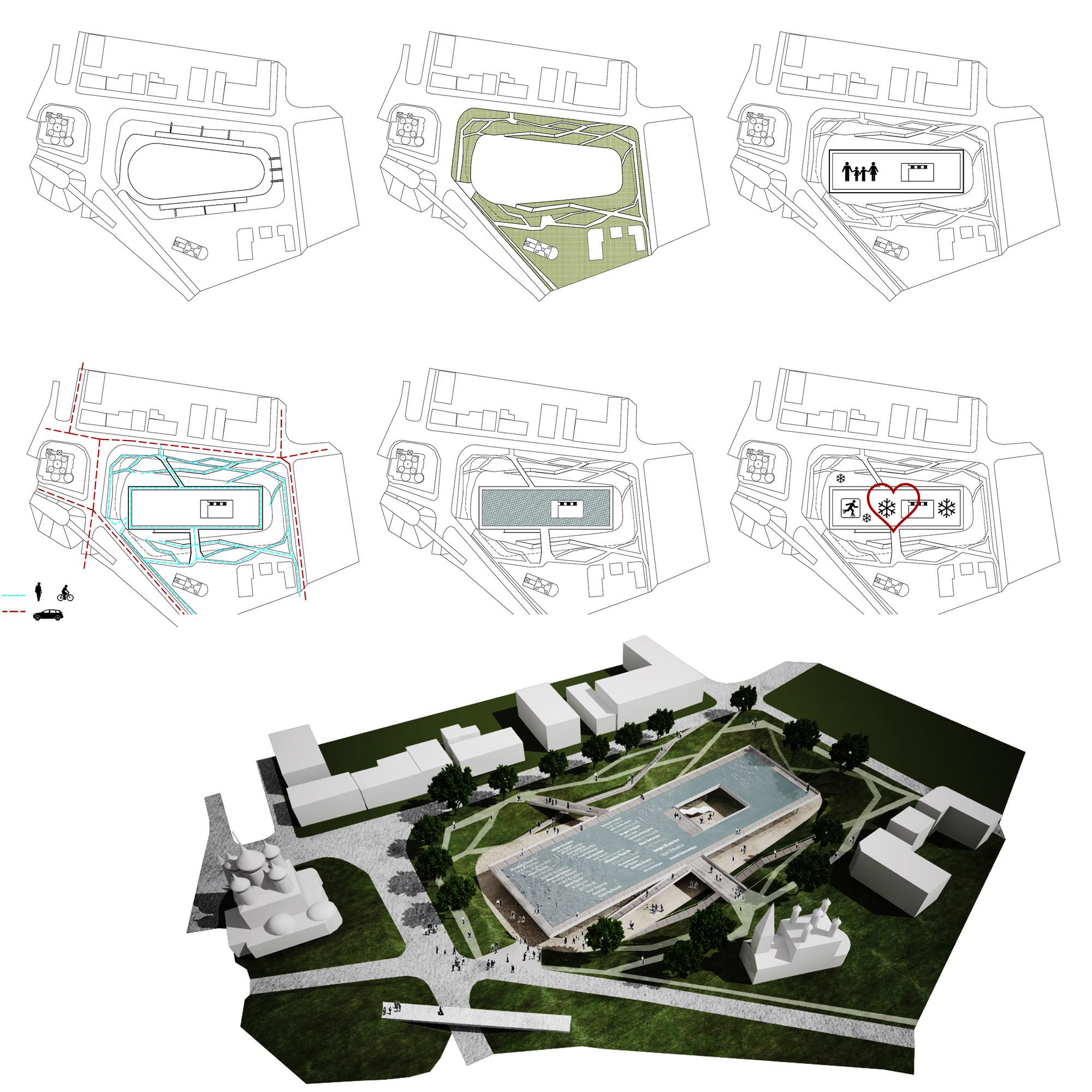 Estrategias de proyecto. Image Courtesy of JAPA