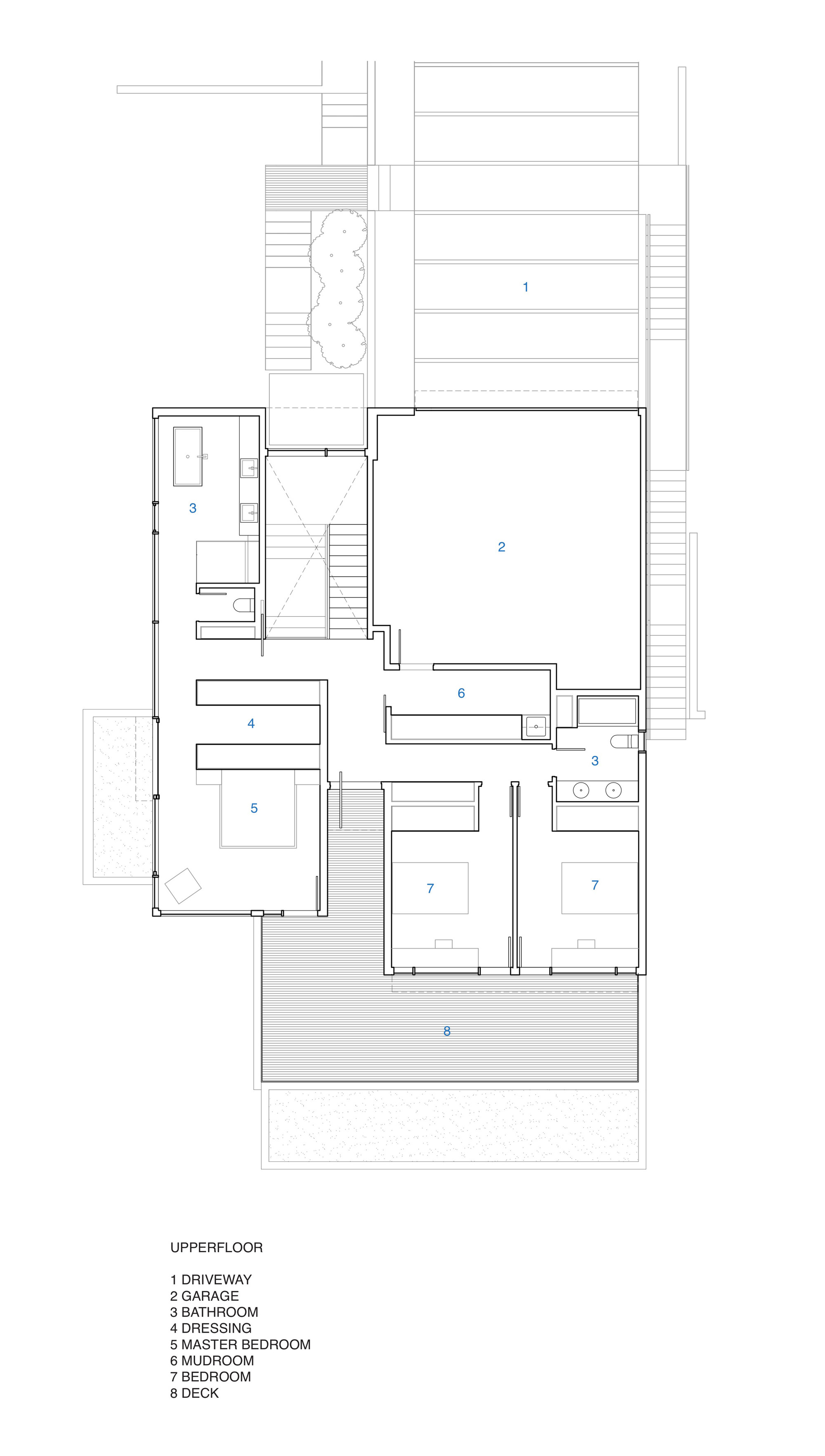 Gallery of russet residence splyce design 22 for House plan printing