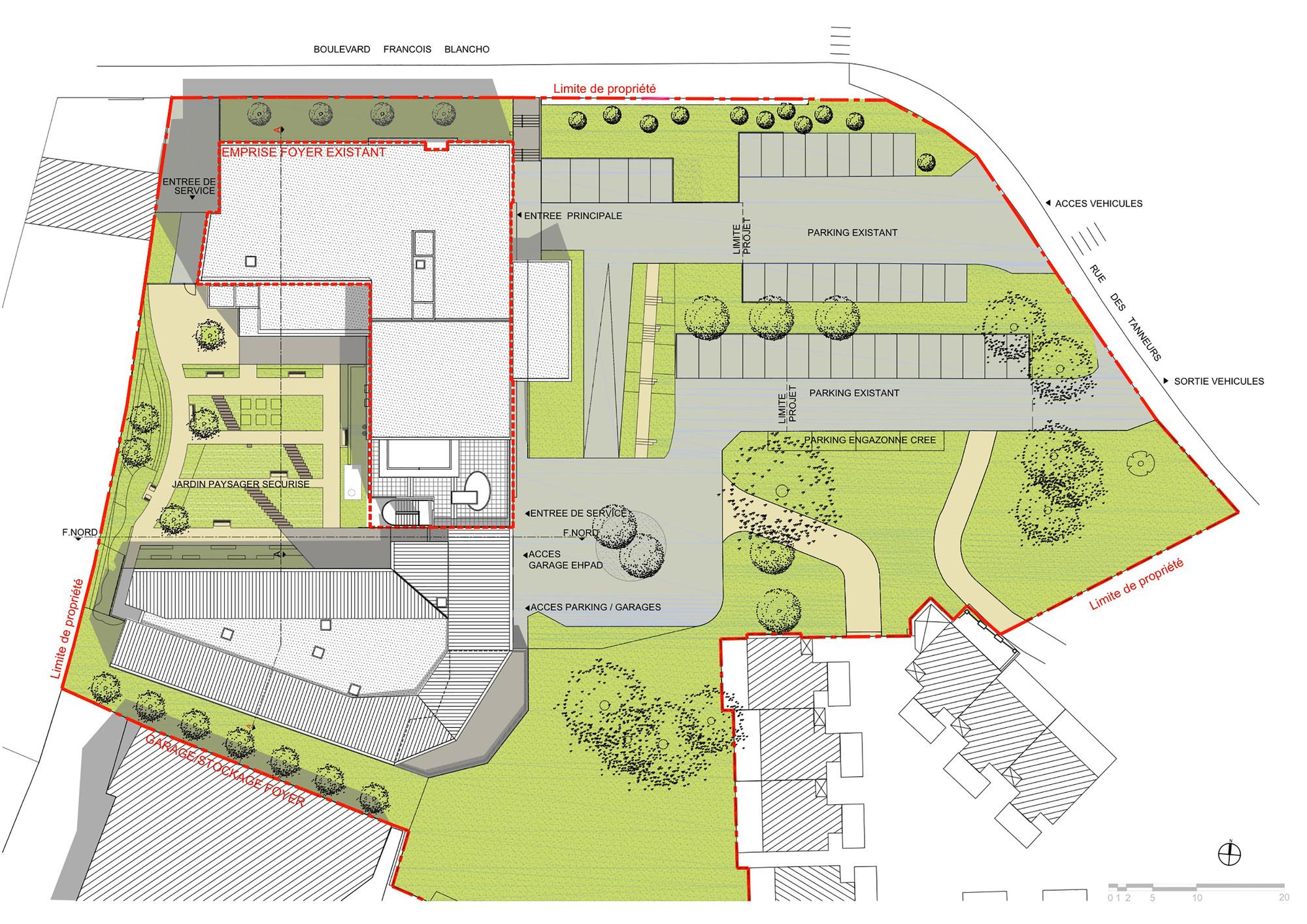 """Foyer Plan Qatar : Gallery of alzheimer residence for the """"foyer la grange"""