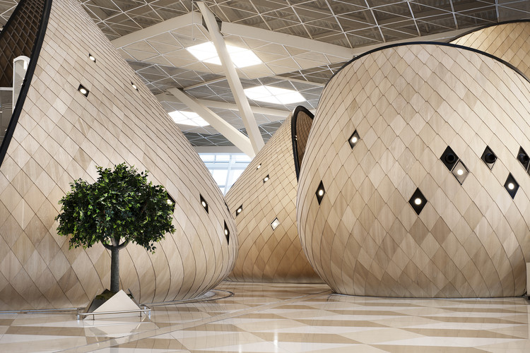 Aeropuerto Internacional Heydar Aliyev en Baku  /  Autoban, © Kerem Sanliman