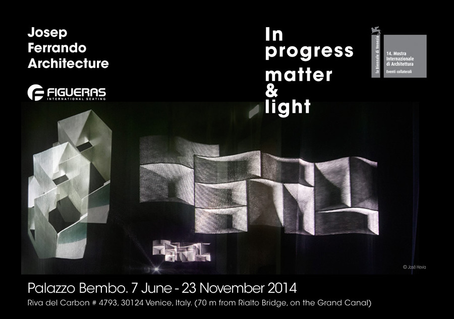 Bienal de Venecia: exhibición 'In Progress Matter & Light' por Josep Ferrando y Figueras International Seating