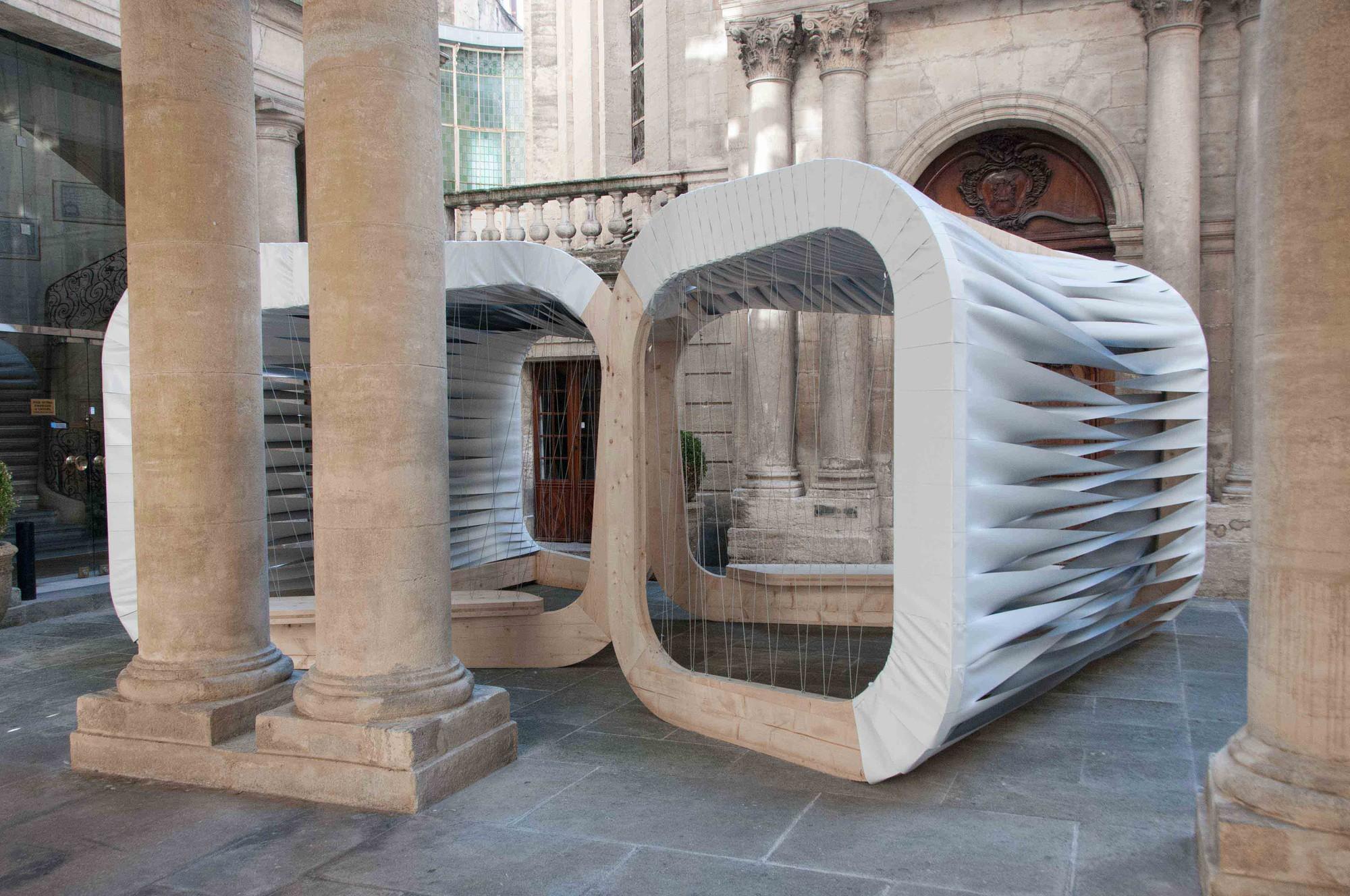 """""""Weave Shape Pavilion"""" de Atelier NH en Montpellier. Imagen © photoarchitecture, Cortesía de Paul Kozlowski"""