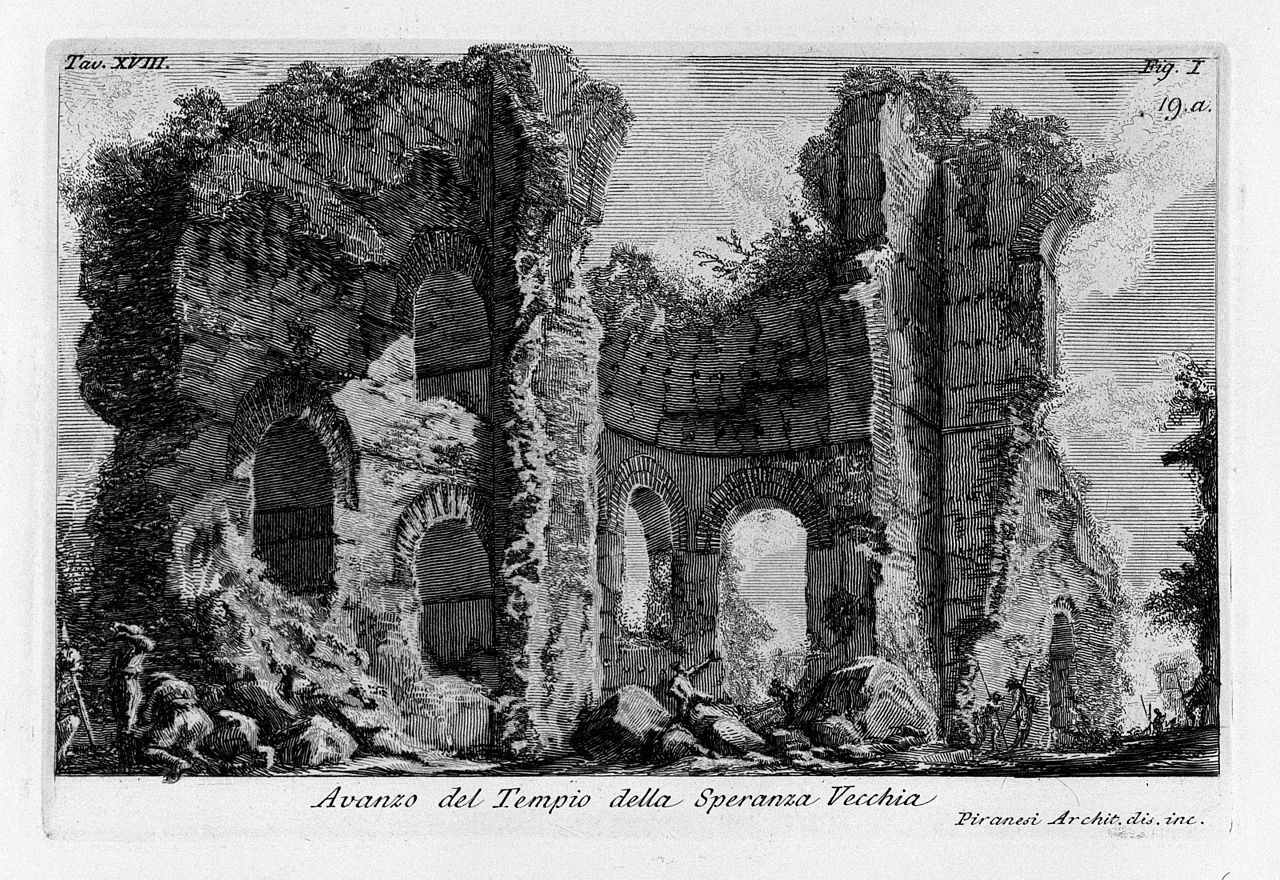 Piranesi's etching of the Temple of Venere and Cupido in Rome. Image © Wikimedia Commons