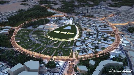 Aerial View. Image © (designed by) Erick van Egeraat BV