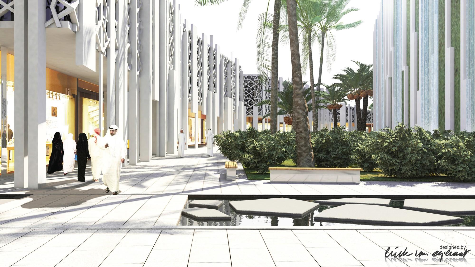 Shopping District. Image © (designed by) Erick van Egeraat BV