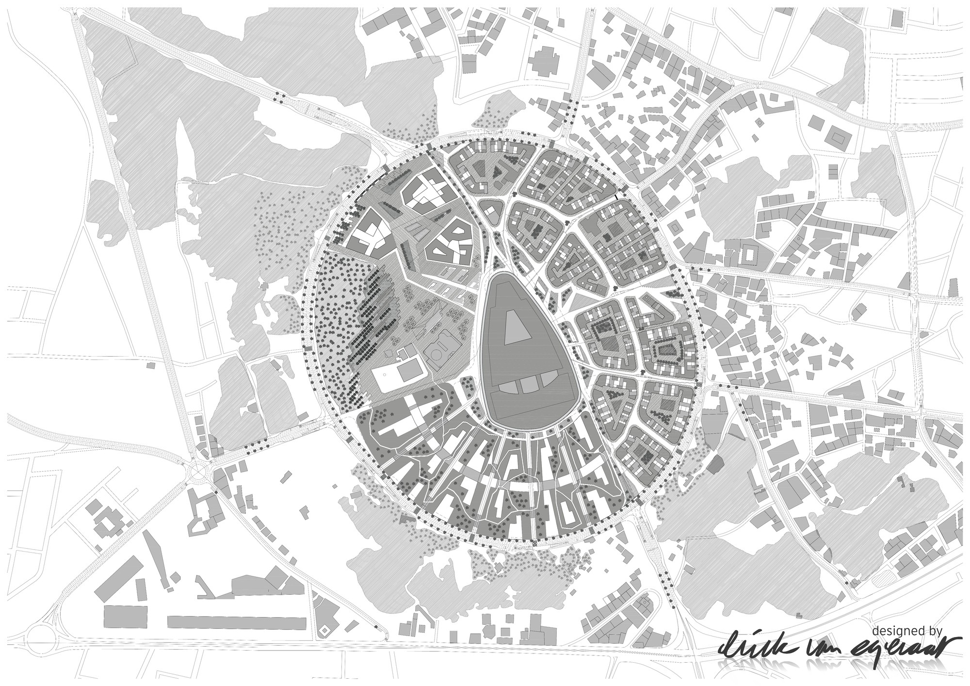 Site Plan. Image © (designed by) Erick van Egeraat BV