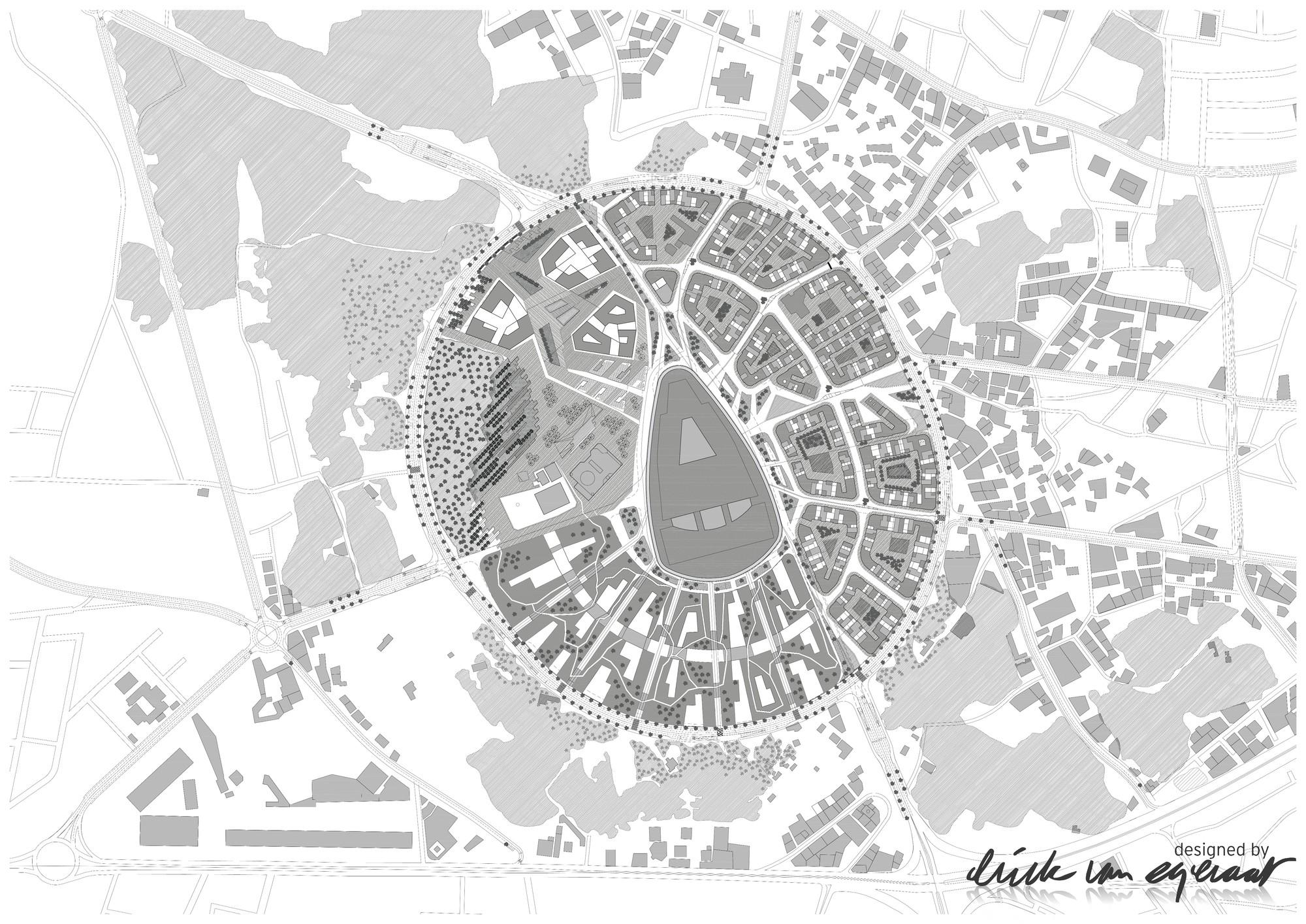 Site Plan. Image © (designed by) Erick van Egeraat BV