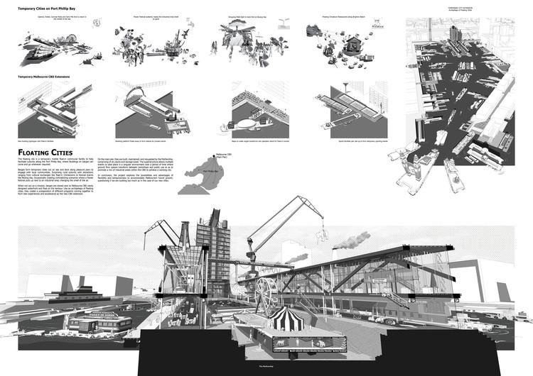 Mención Honrosa: Floating Cities. Image Cortesía de IS ARCH