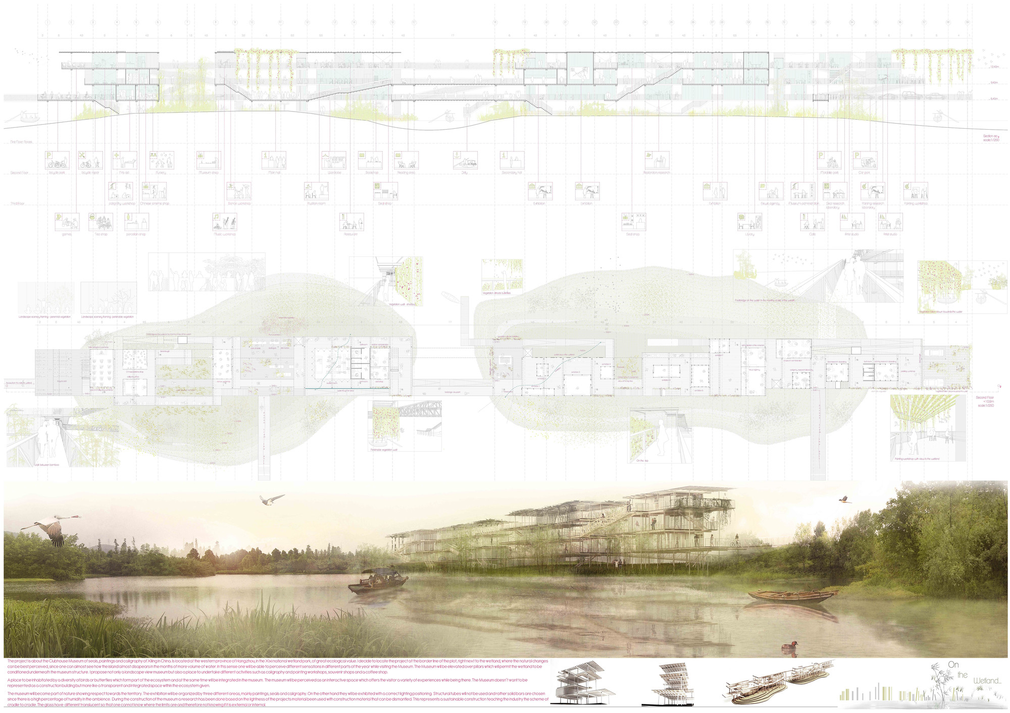 Mención Honrosa: On the wetland. Image Courtesy of IS ARCH