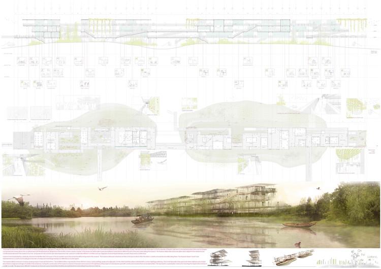 Mención Honrosa: On the wetland. Image Cortesía de IS ARCH