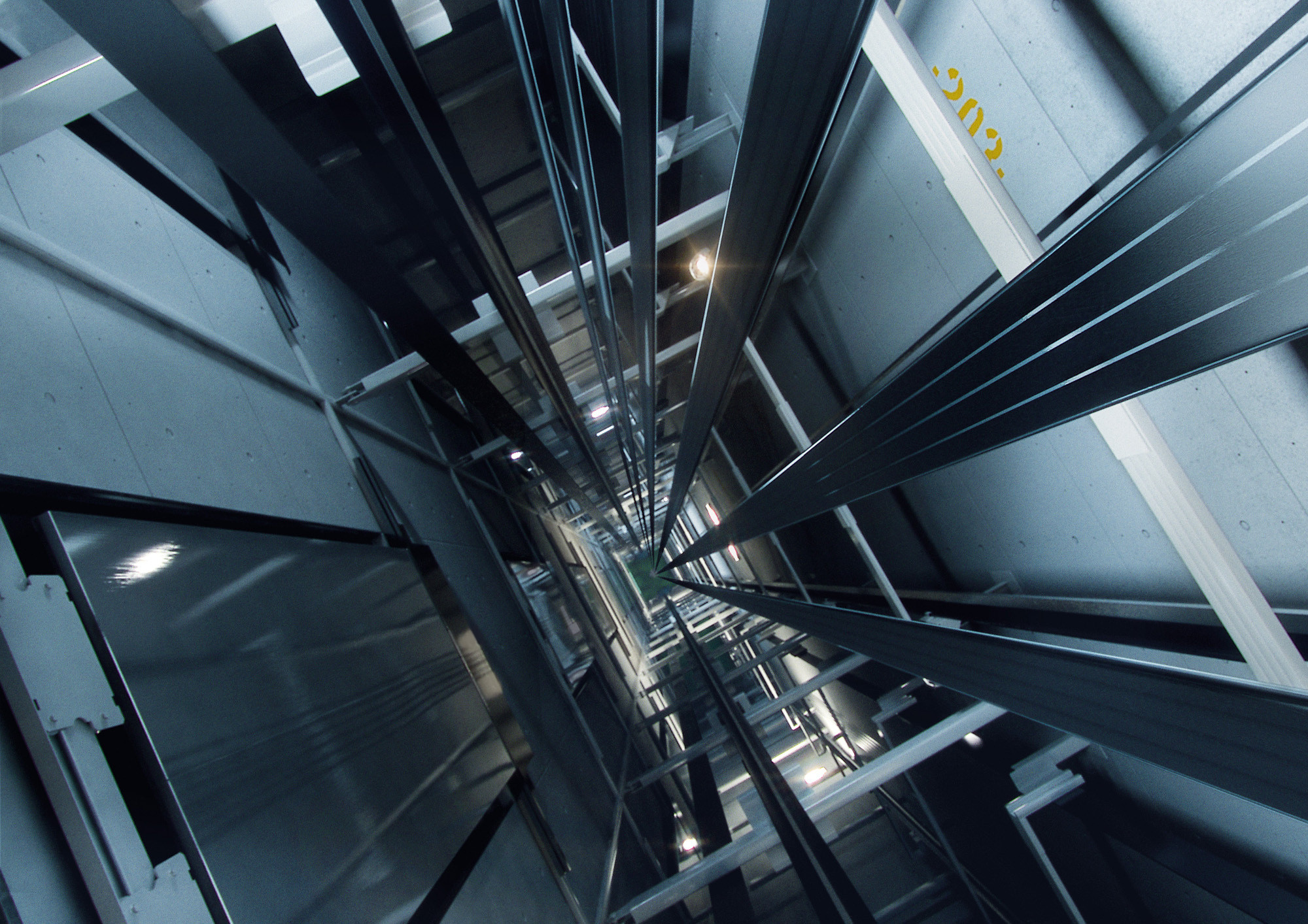How New Elevator Technology Will Allow Our Cities to Grow Even Taller, KONE UltraRope Elevator Shaft. Image Courtesy of Kone/Splash/Corbis