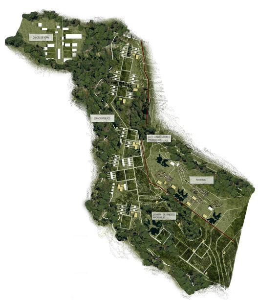 Guafilla, agrocentro + asociación: planta de intervención. Image Courtesy of Equipo Primer Lugar