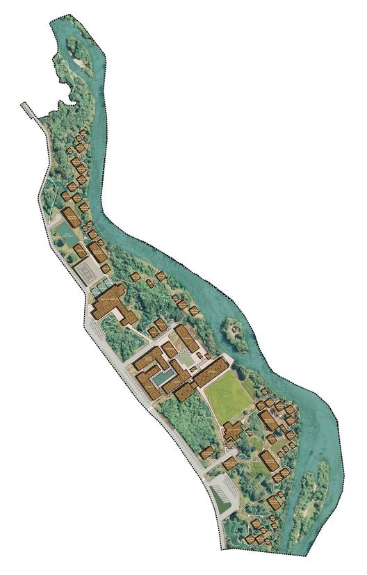 Plan Maestro Campus IKIAM. Image Courtesy of Del Hierro AU, Estudio A0 y L + A
