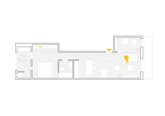 Interior renovation of an apartment in les corts sergi for Apartment renovation plans