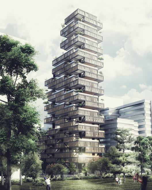 Finalista en concurso de ideas Rascacielos Lima / Perú, Courtesy of EMS Arquitectos