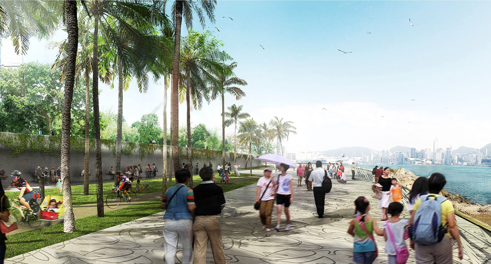 Landscape Design Unveiled for West Kowloon Cultural District Park, Courtesy of West 8