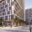 Pelli Clarke Pelli's proposal. Image Courtesy of Brooklyn Bridge Park Corporation via Architects Newspaper