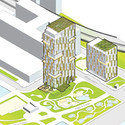 WASA Studio's proposal. Image Courtesy of Brooklyn Bridge Park Corporation via Architects Newspaper