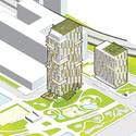 WASA Studio's proposal. Image Courtesy of Brooklyn Bridge Park Corporation via Architects Newspaper