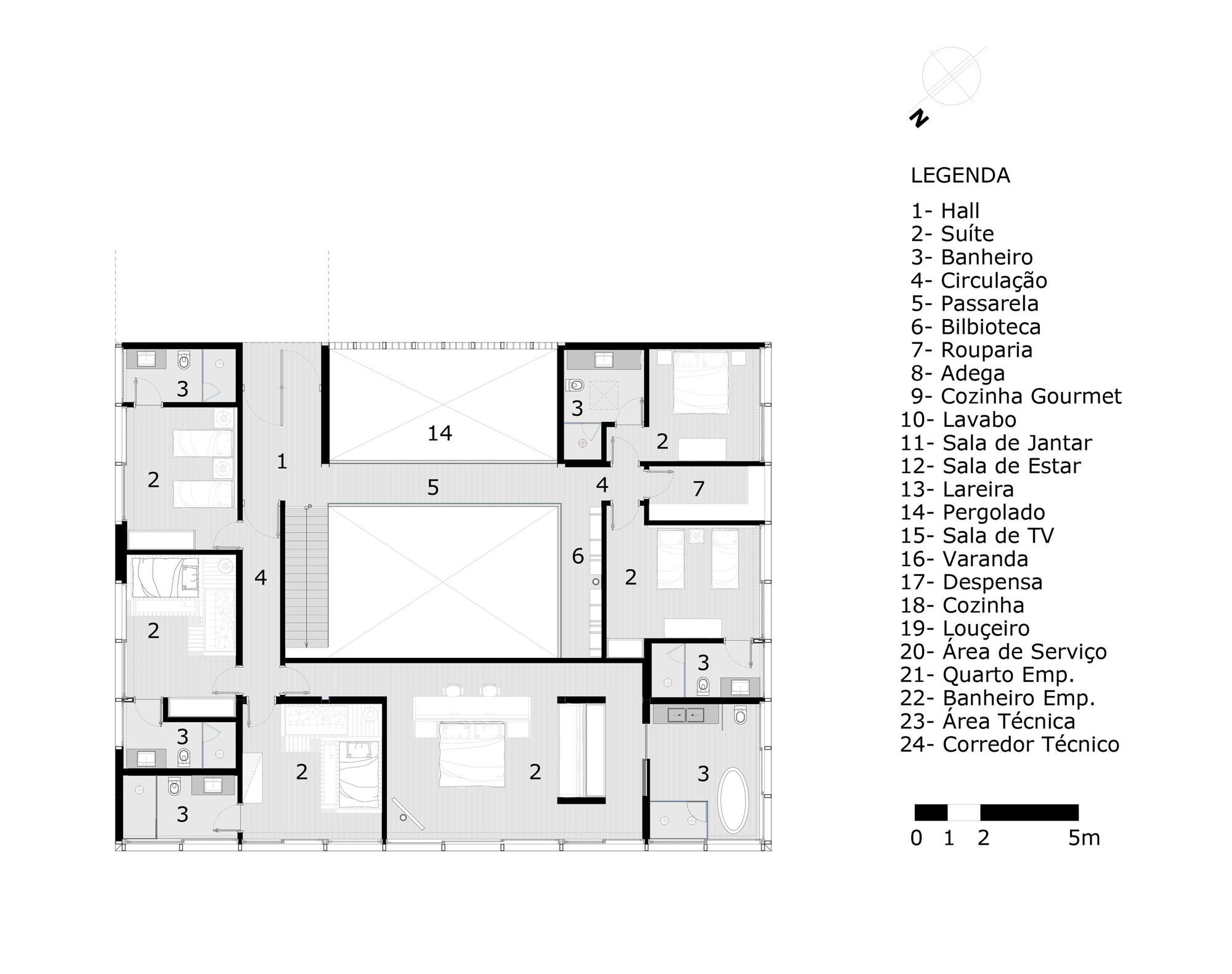 Gallery of jg house mpgarquitetura 12 for Copying house plans