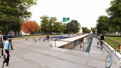 Segundo Lugar en concurso Monumento a la Bandera Bonarense / Argentina