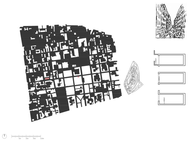 Mapa del vacío de la calle corredor  © Javiera González Zarzar