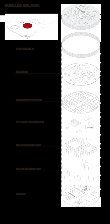 Isométrica Pabellón. Image Courtesy of Gerardo Valle P. Arquitectos Asociados + Winckler Arquitectos Asociados