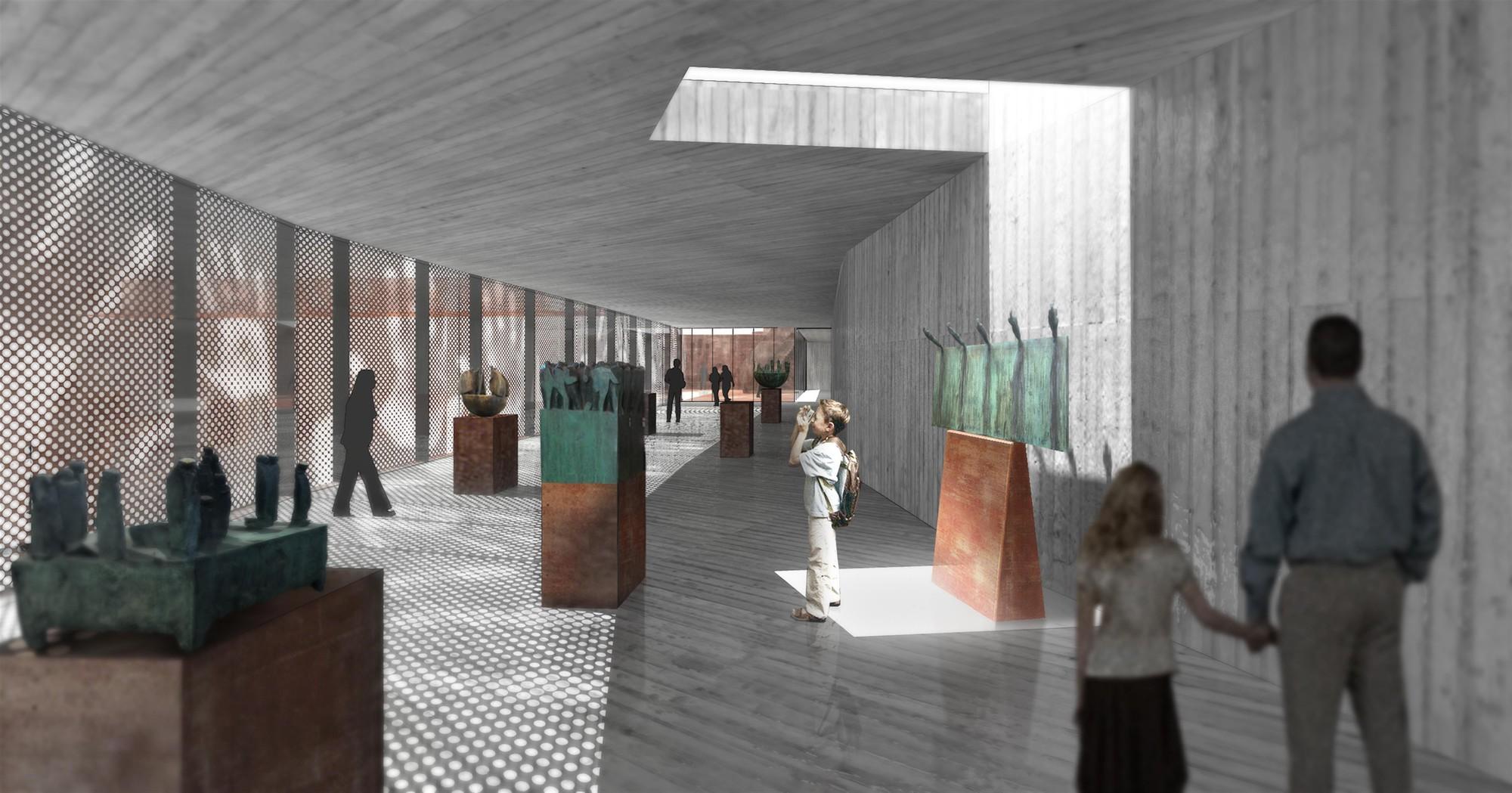 Interior de Galería. Image Cortesia de ELEMENTAL