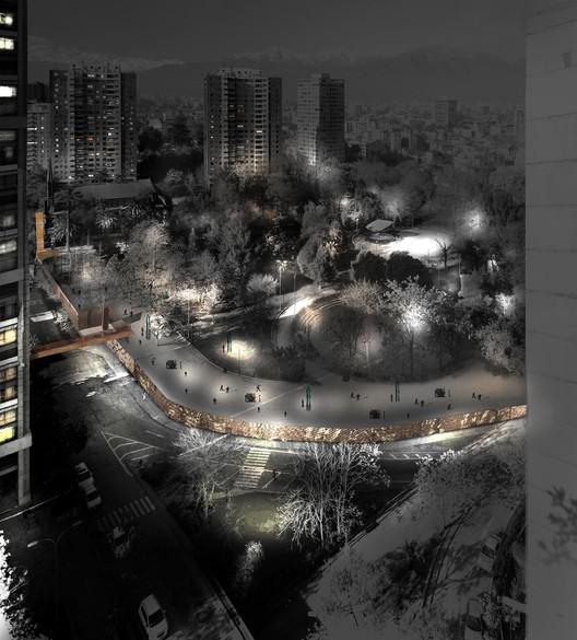 Vista nocturna. Image Cortesia de ELEMENTAL