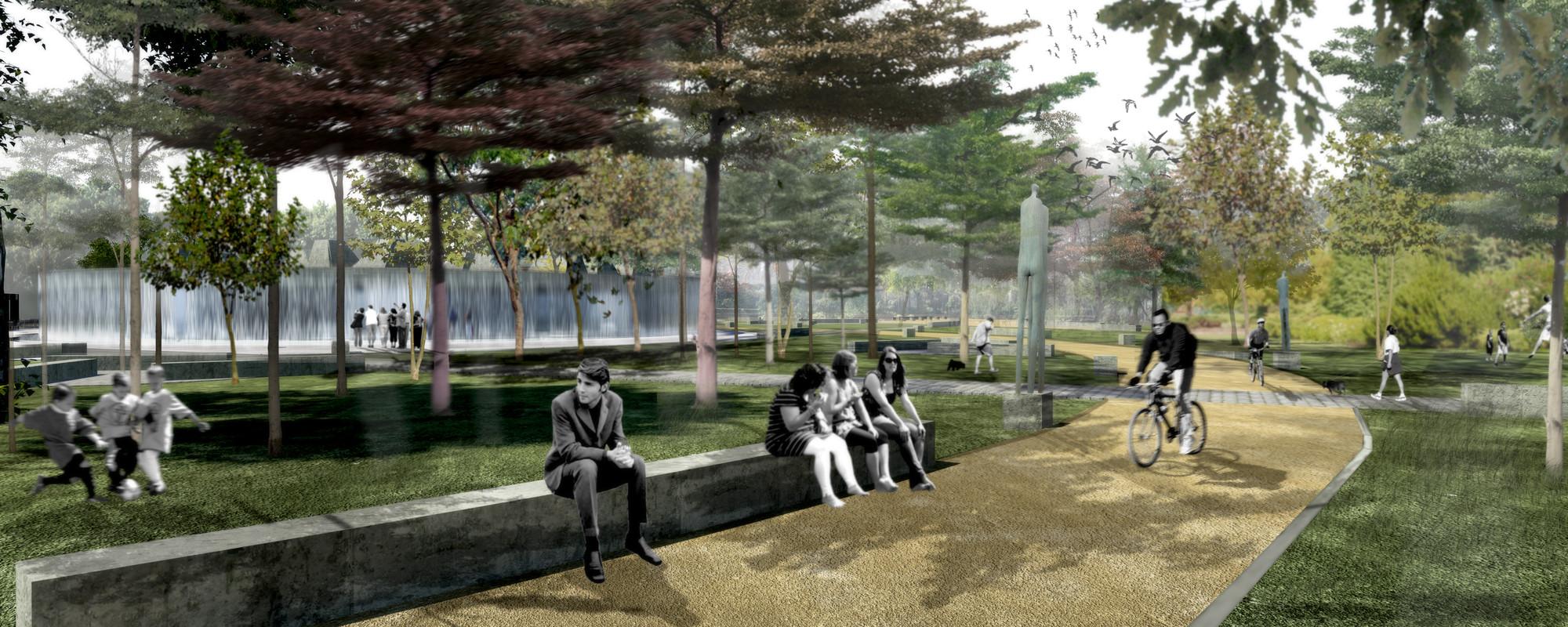 Parque. Image Cortesia de Gerardo Valle P. Arquitectos Asociados + Winckler Arquitectos Asociados