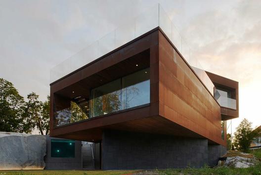 Casas acero corten plataforma arquitectura for Fachada acero corten