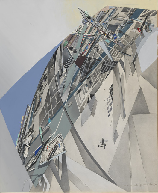 Zaha Hadid, The World (89 Degrees), 1984. Image Courtesy of Kemper Art Museum