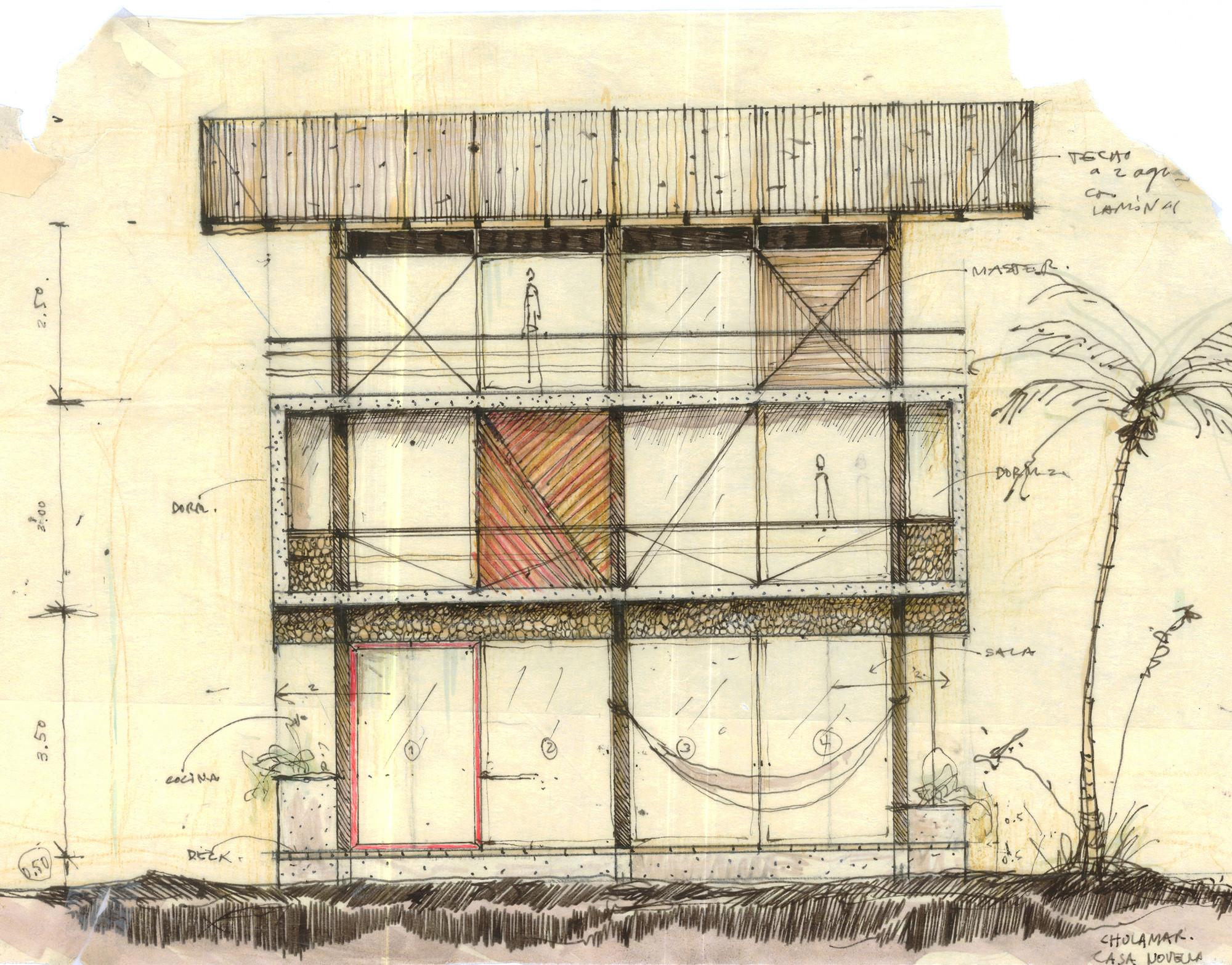 Gallery of guatemala beach house christian ochaita for Beach house drawing