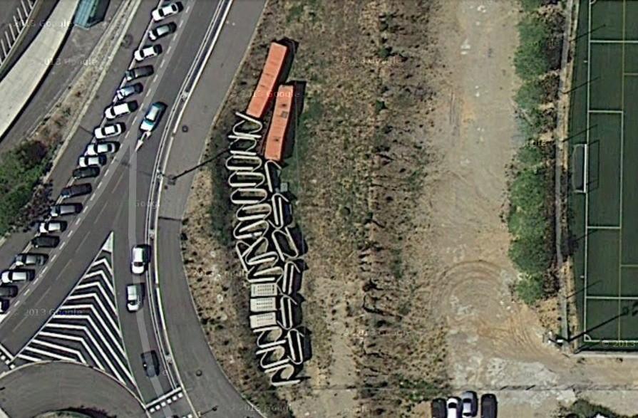Imagen Satelital de los Módulos Desmontados. Image Courtesy of Google Maps