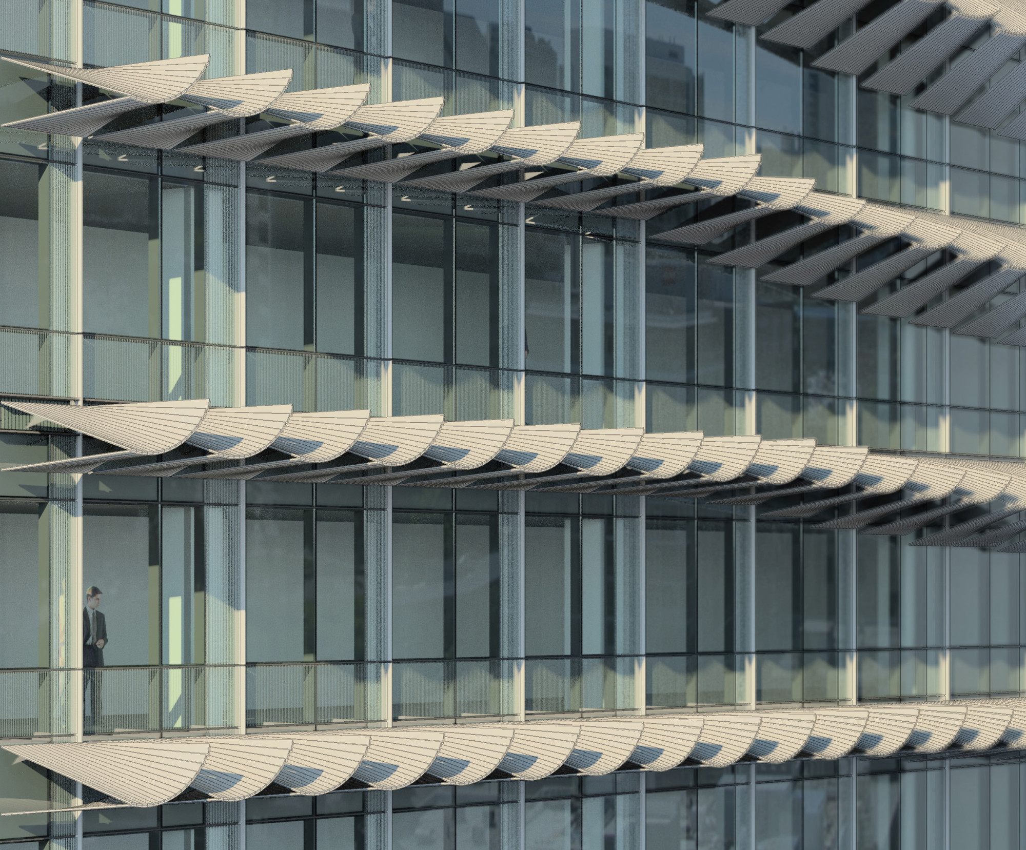 NBBJ Creates High Tech Shading System for Buildings , © NBBJ
