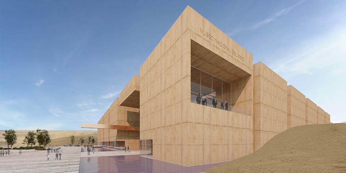 Segundo Lugar en concurso de ideas para el Museo Nacional del Perú, Acceso. Image Courtesy of Juan Carlos Doblado