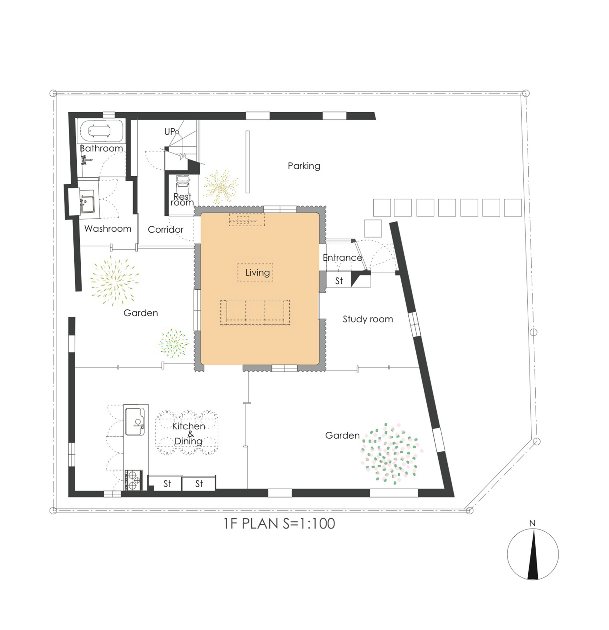 Gallery of house of a backstage y m 21 for Copying house plans