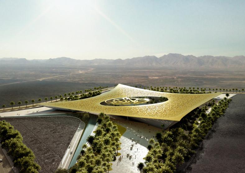Rafael de La-Hoz Arquitectos diseña un oasis natural inspirado en una página del Corán, Cortesía de Rafael de La-Hoz Arquitectos