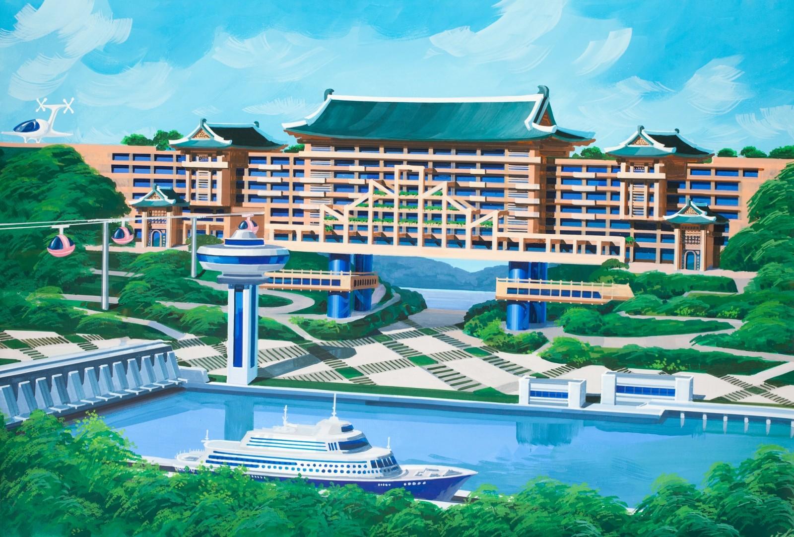 Hotel para la ciudad norcoreana de Nampo. Imagen cortesía de Koryo Tours
