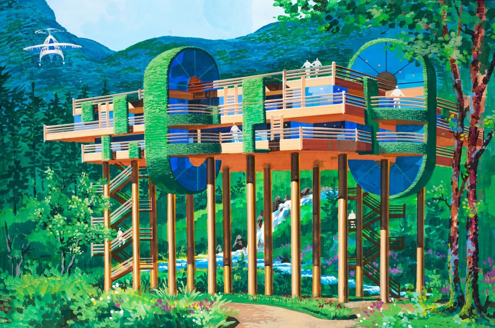 """El """"Hotel Aéreo"""" otorga a los turistas sendas vistas a los montañas. Imagen cortesía de Koryo Tours"""