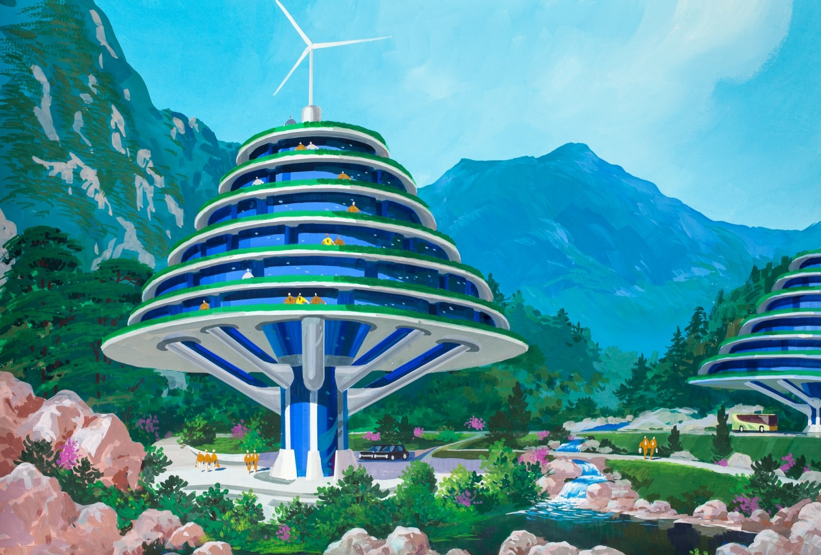Un resort en Monte Kumgang. Imagen cortesía de Koryo Tours