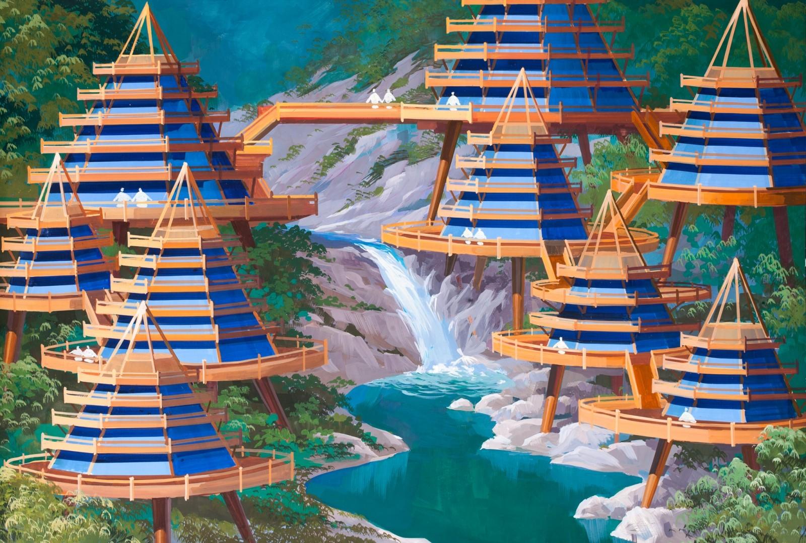 Desarrollo costero a los pies del Monte Kumgang. Imagen cortesía de Koryo Tours