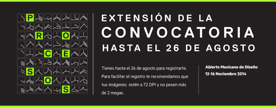 Se extiende la convocatoria para el Abierto Mexicano de Diseño 2014