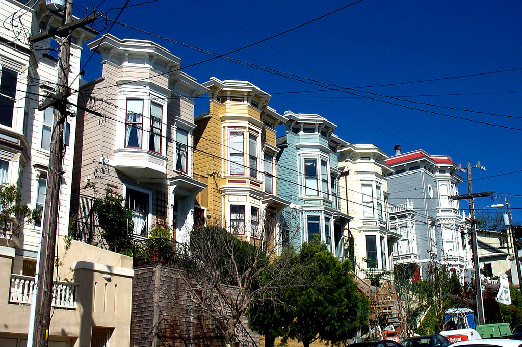 Photo of Noe Valley, a low-density, high-income neighborhood, by Allan Ferguson
